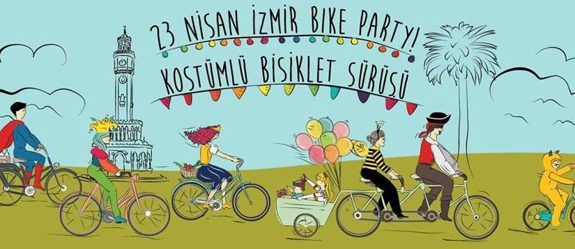 23 Nisan İzmir Bike Party! Kostümlü BisikletSürüşü