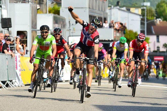 Criterium du Dauphine 2016 - 09/06/2016 - Etape 4 - Tain-l'Hermitage/ Belley (176km) -BOASSON HAGEN Edvald - Vainqueur de l'étape à Belley